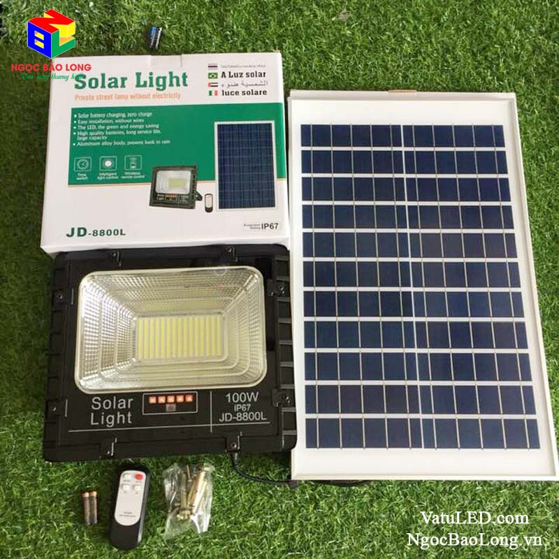 đèn pha Năng lượng mặt trời jindian 100w