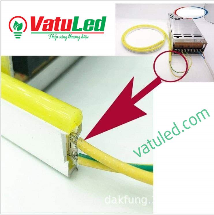 Cách đấu nối LED neon 12v