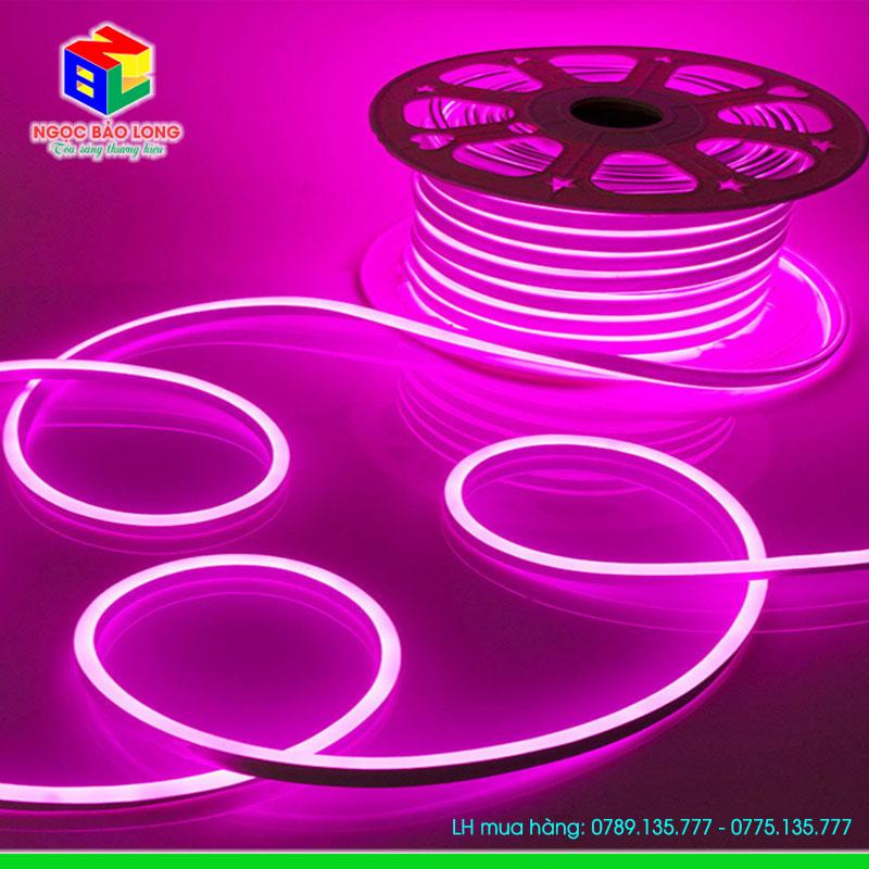LED Neon flex 12v 50m màu hồng