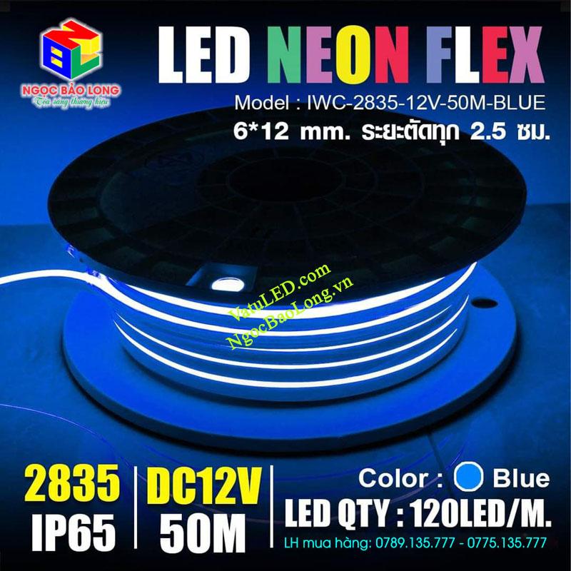 LED Neon 12v 50m màu xanh dương